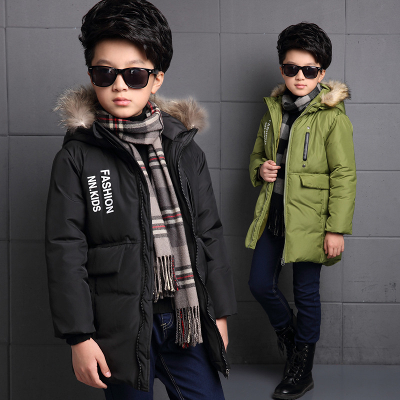The New 2016 Europe And The United States Children's Winter Jacket Boy Winter Jackets Children's Letters Cotton Baby Clothes europe and the united states long sleeve hooded keep out the cold winter to keep warm and comfortable cotton coat