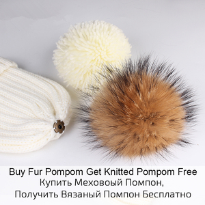 Image 5 - Furtalk Kids Beanie Hat and Scarf Set Girl Boy pompom Hat Scarf Child Thick Warm Winter Knit Hats with Raccoon Fur Ball Age 2 14