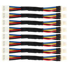 8pcs 4 Pin Fan Connector Cord PC Reduce Fan Speed Power Resistor Male to Female Cable Adapter Easy Installer Install