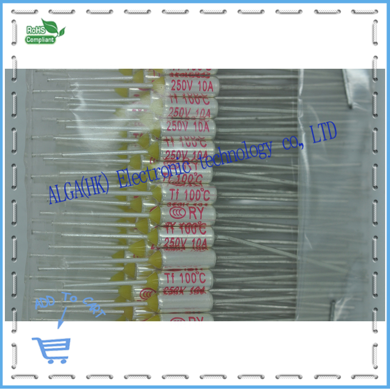 Thermal fuse RY Tf 65degree~285degree choose one degree 250V 10A 100/Pack. seek thermal
