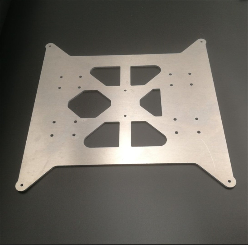 468e9446e5d FLSUN Prusa i3 upgrade aluminum Y carriage heated bed base plate 3mm thick