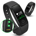 ID107 Bluetooth Smart Bracelet smart band With Heart Rate Monitor Wristband Fitness Tracker remote camera for Android iOS