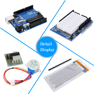Image 2 - KEYES 1602 LCD 830 Breadboard LED Relay RTC Electronic Kit for Arduino Uno R3 Starter Kit Upgraded Version