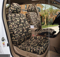 5 Pcs Set Car Seat Cover Cushion 2016 Auto Supply Summer Season Special Flax Material Camouflage