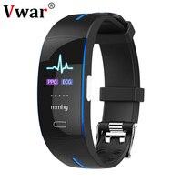 Vwar H66Plus Sport Smart Bracelet ECG+PPG Blood Pressure Heart Rate Monitor Color Screen Smart Band H66 Fitness Activity Tracker