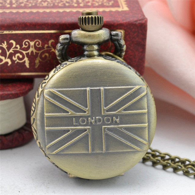11.11 2017 Vintage Steampunk Retro Bronze Design Pocket Watch Quartz Pendant Nec