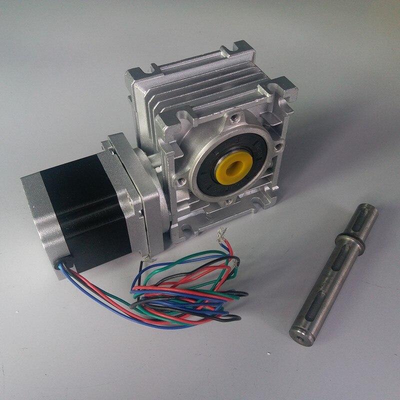 Worm Gearbox RV030 Speed Reducer 14mm output W Nema23 Stepper Motor 3A 56MM 1 2NM 172Oz