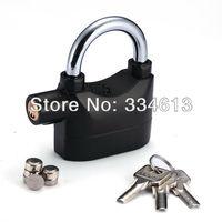 Alarm Lock For Bike Motorcycle Door Gate Bolt Chain Lock Security 110db Siren Alarmed Padlock Free