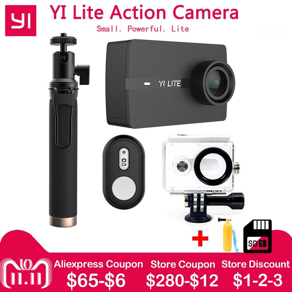 Xiaomi YI Lite D'action Caméra Réel 4 k Sport Caméra avec WIFI Intégré 2 pouce LCD Écran 150 Degrés Large angle Objectif International