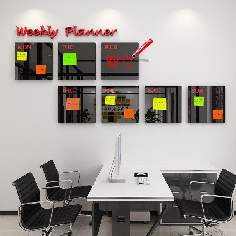 Акриловая 3D стерео Настенная Наклейка для украшения дома, доска объявлений компании, доска объявлений, рабочий график, офисный школьный план, доска для заметок
