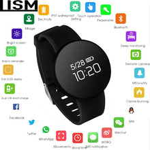 Smart watch IP68 waterproof Sport OLED Activity Fitness tracker Heart rate monitor BRIM Men women smartwatch For Android Ios Men цена в Москве и Питере