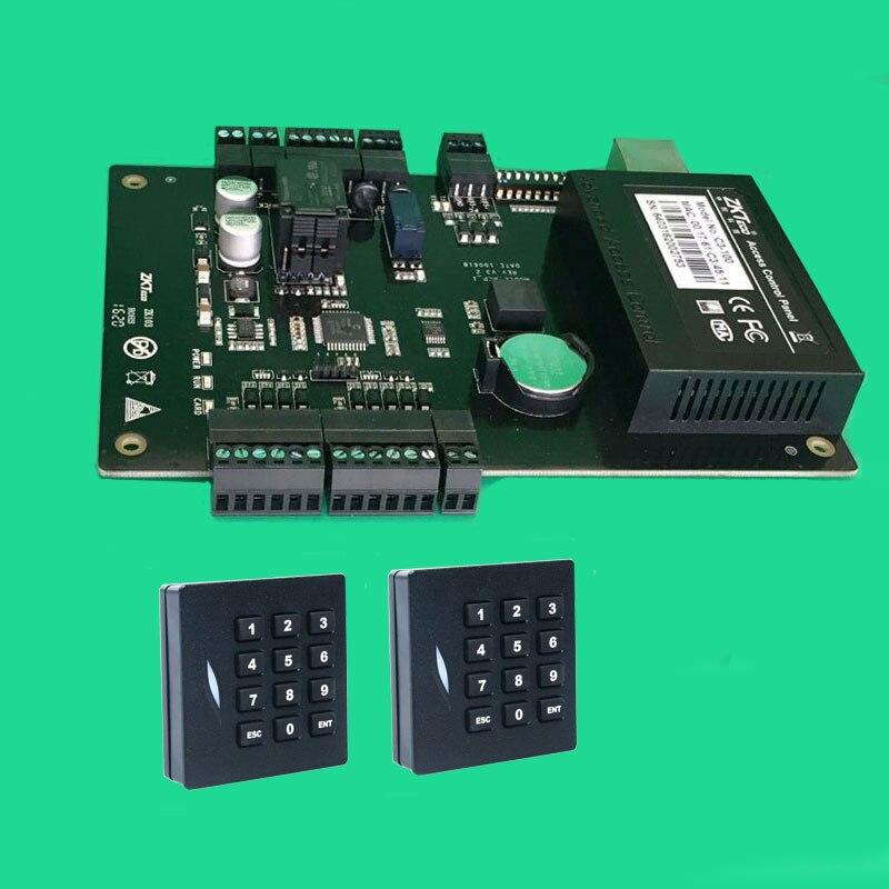 C3-100 Tcp/Ip Rfid Système de Contrôle D'accès De Porte Kit Lecteur de Clavier de Contrôleur D'accès De Porte + 2 pièces KR102 Clavier Rfid wiegand Lecteur