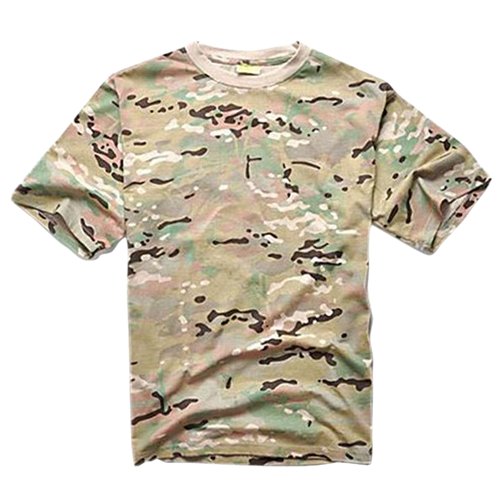 Summer Outdoors Hunting T-shirt Men Breathable Army Tactical Combat T Shirt Military Dry Sport Camo Outdoor Camp Tees CP