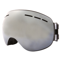 Jiepolly Ski Skiing Goggles Magnet Lens Detachable Strap Anti fog Lens gafas ski Face Mask Windproof Sunglasses Skiing Goggles