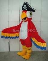 New arrival Cartoon Character Professional New Parrot Pirate Mascot Costume Fancy Dress free shipping