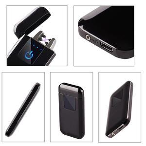 Image 3 - Plasma USB Leichter Touch senstive Schalter Leichter Zigaretten Für Rauchen Ciga Elektronische Leichter Gravieren Name Super Dünne Lightr