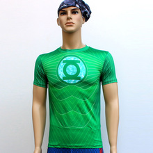 Green Lantern T Shirts Short Sleeve High Elastic Fast Dry Tops Super Hero Shirts Water Proof Sport Riding Outdoor Tops