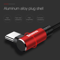 Baseus USB Type C Cable 90 Degree for xiaomi redmi k20 pro USB C Mobile Phone Charging Cable for oneplus 7 pro Type-C Cable