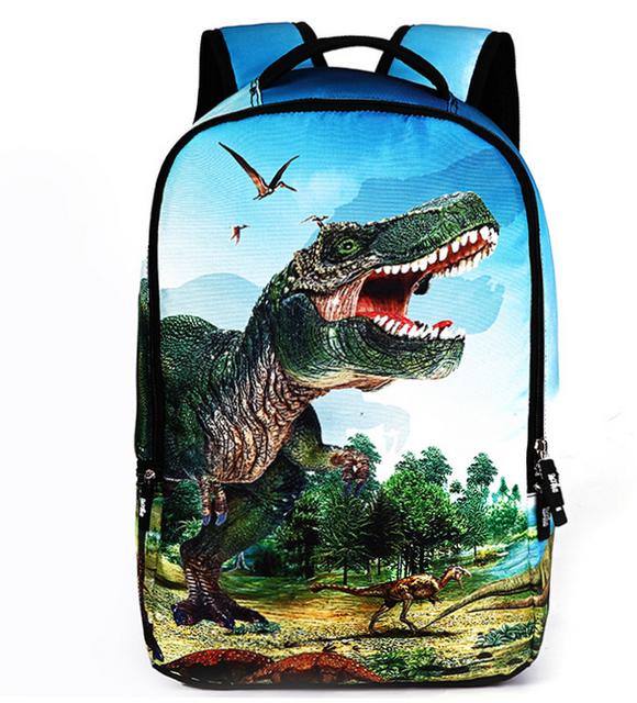 2016 de La Moda Mochilas Escolares para Niños Mochila Animales Dinosaurio 3D Hombres Turismo Bolsa de Leopardo de Las Mujeres Backbag