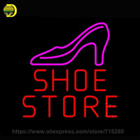 Neon Sign Red Shoe Store Neon Light Sign Neon Bulb Handcraft Glass Tube Floor Lamp Business