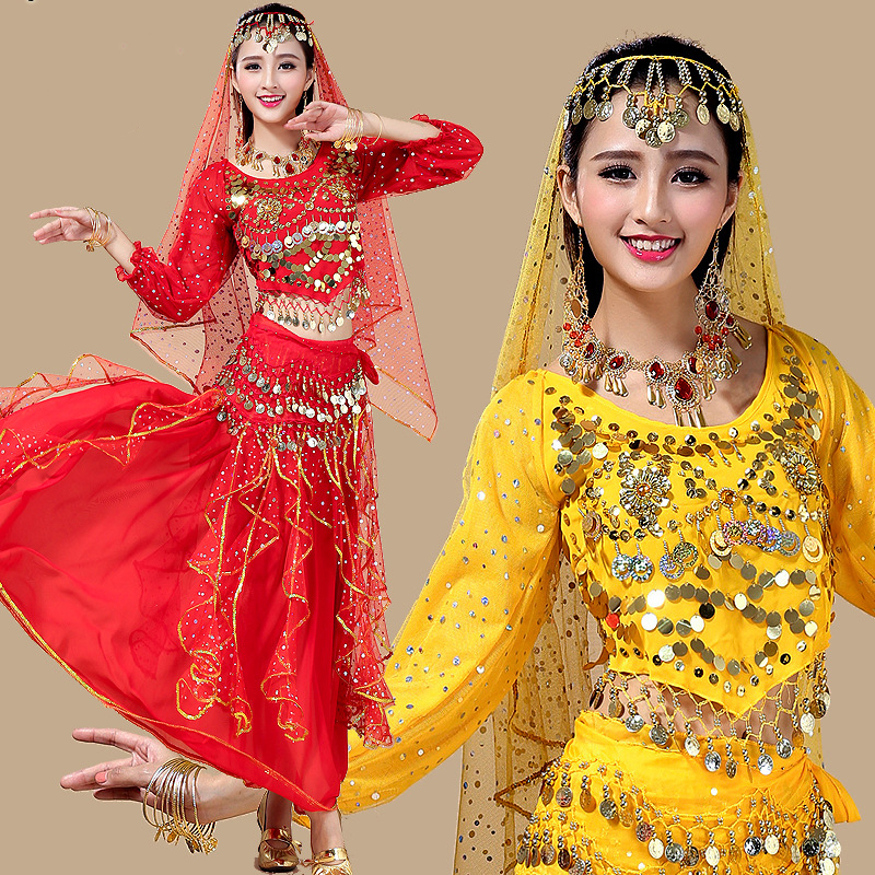 Belly Dance Costumes New Oriental Dance Costumes Chiffon Long Sleeve Belly Dancing Clothing Women Wonder Woman Costume DN1398