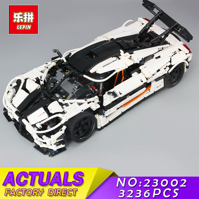 LEPIN 23002 3136Pcs Technic Series The MOC Changing Racing Car Set Children Educational Building Blocks Bricks Toys Model 4789 doinbby store 21004 1158pcs with original box technic series f40 sports car model building blocks bricks 10248 children toys