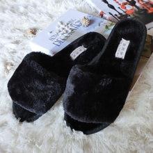Plush Slippers Women Fashion Spring Winter Fur Warm Flat Anti Slip Cute Slipper Flip Flop Female Casual Shoes Zapatos Mujer