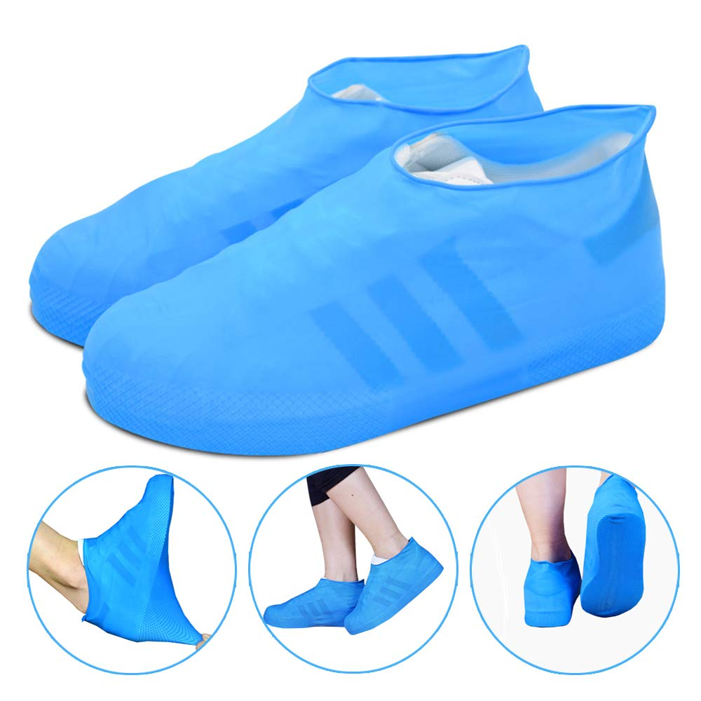 Reusable Rain Snow Boot Shoe Covers Waterproof Rain Socks Silicone Rubber Shoes Overshoes For Men Women Kids Protectors Outdoor