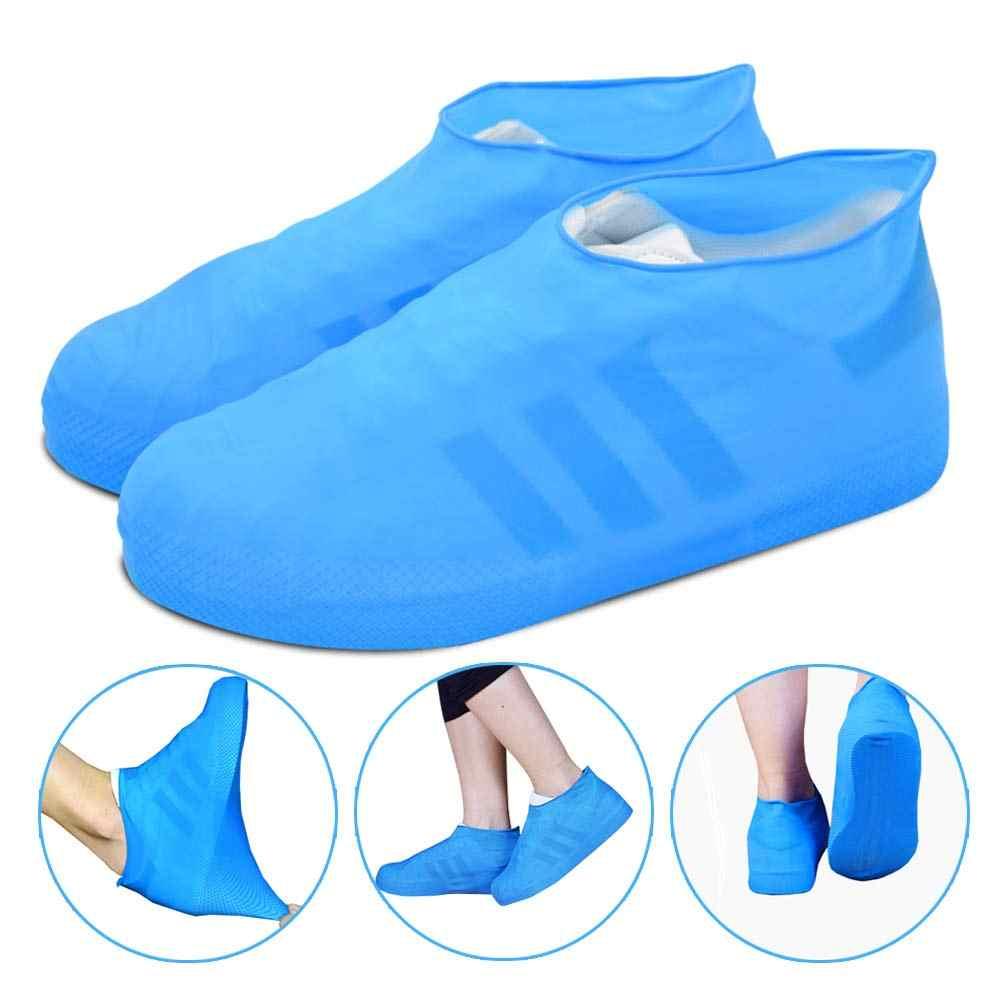 Yeniden kullanılabilir Yağmur kar botu Ayakkabı Kapakları Su Geçirmez Yağmur Çorap Silikon kauçuk ayakkabı Galoş Erkekler Kadınlar Çocuklar Için Koruyucular Açık