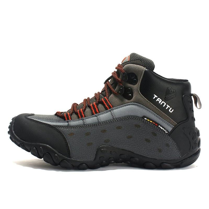 sports shoes 6d673 b44fe BAIDENG Trekking Shoes For Men Waterproof Hiking Shoes Leather Men Outdoor  Mountain Shoes Hiking Sneakers Big