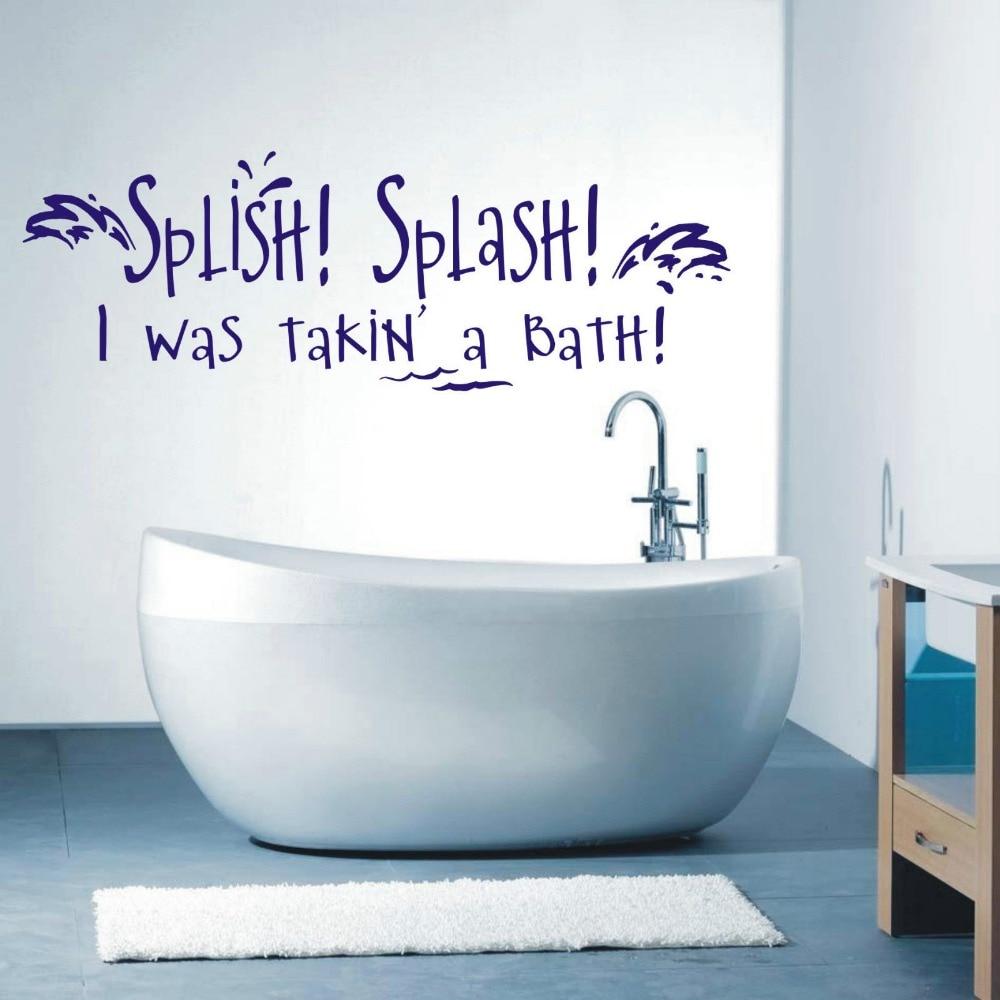 Bathroom wall art stickers - Splish Splash I Was Takin A Bath Bathroom Wall Art Sticker Quote Wall Decals 3 Sizes