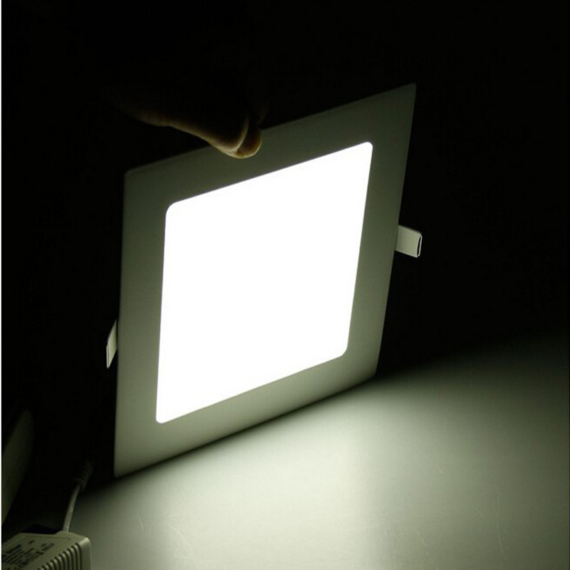 3 Вт, 4 Вт, 6 Вт, 9 Вт, 12 Вт, 15 Вт, 18 Вт, яркий квадратный светодиодный встраиваемый светильник, потолочная панель, светильник-пуховик, холодный белый, теплый белый