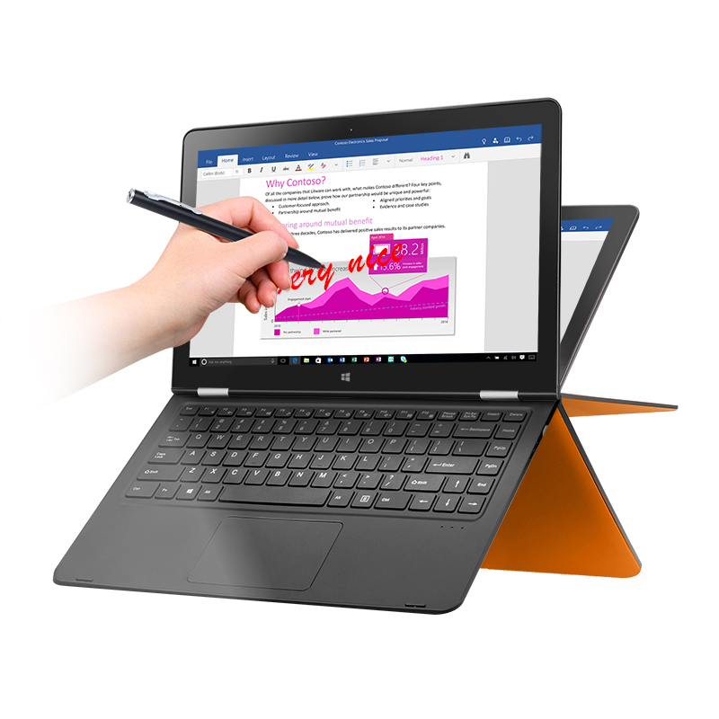 """VOYO VBOOK V3 series Apollo Lake N4200 Quad Core 1.1-2.2GHz Win10 13.3"""" tablet pcs IPS Screen With 4GB DDR3L 120GB SSD computer"""