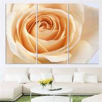 3 Pcs/Set Brand Hot Sale Canvas Picture Flower Painting Yellow Roses Canvas Print Wall Pictures For Living Room H184 33920 JBO