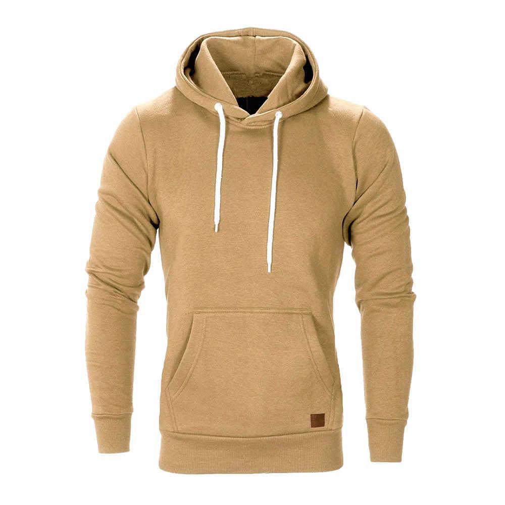 Herren Langarm Herbst Winter Casual Sweatshirt Hoodies Top Bluse Anzüge sweatshirts hoodies männer para hoodie felpe uomo