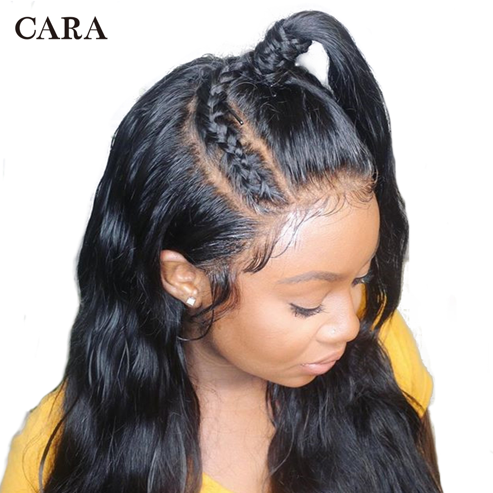 CARA Full Lace Human Hair Wigs 250% Density Brazilian Virgin Hair Straight Pre Plucked Natural Hairline With Baby Hair