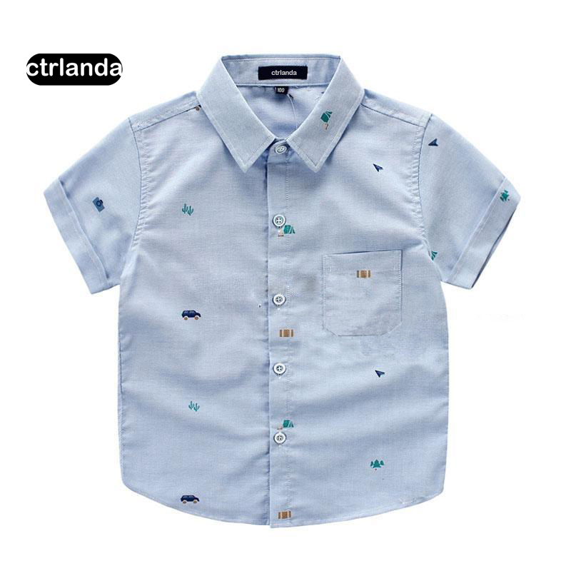 children boy shirt kids Oxford cloth 100% cotton short sleeve shirts children clothing baby boy tops shirt summer student shirts