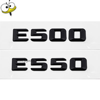 Auto Exterior Accessories Black Emblem Badge Car Rear Sticker Decals Number Car Styling For Mercedes E