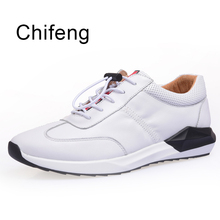 Men's sneakers Genuine leather-based Casual Men vulcanized shoe 2017 Spring Autumn New style Breathable board sneakers outside boy