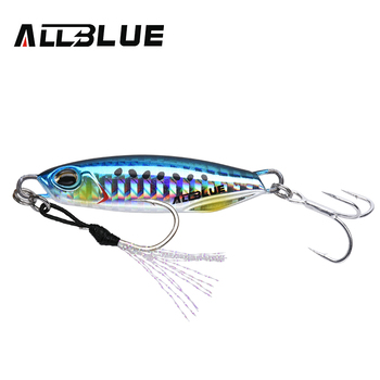 ALLBLUE New DRAGER Metal Cast Jig Spoon 15G 30G Shore Casting Jigging Lead Fish Sea Bass Fishing Lure  Artificial Bait Tackle 11
