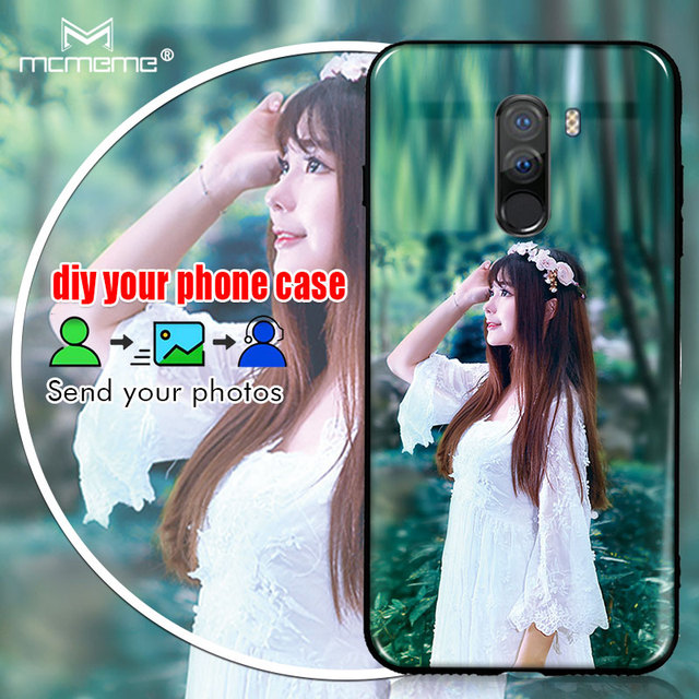 cheaper ee1db 79e69 US $2.76 23% OFF|For Xiaomi Pocophone F1 F 1 Case cove DIY Personalized  custom photo name Customize printing your design picture Phone Case-in  Fitted ...