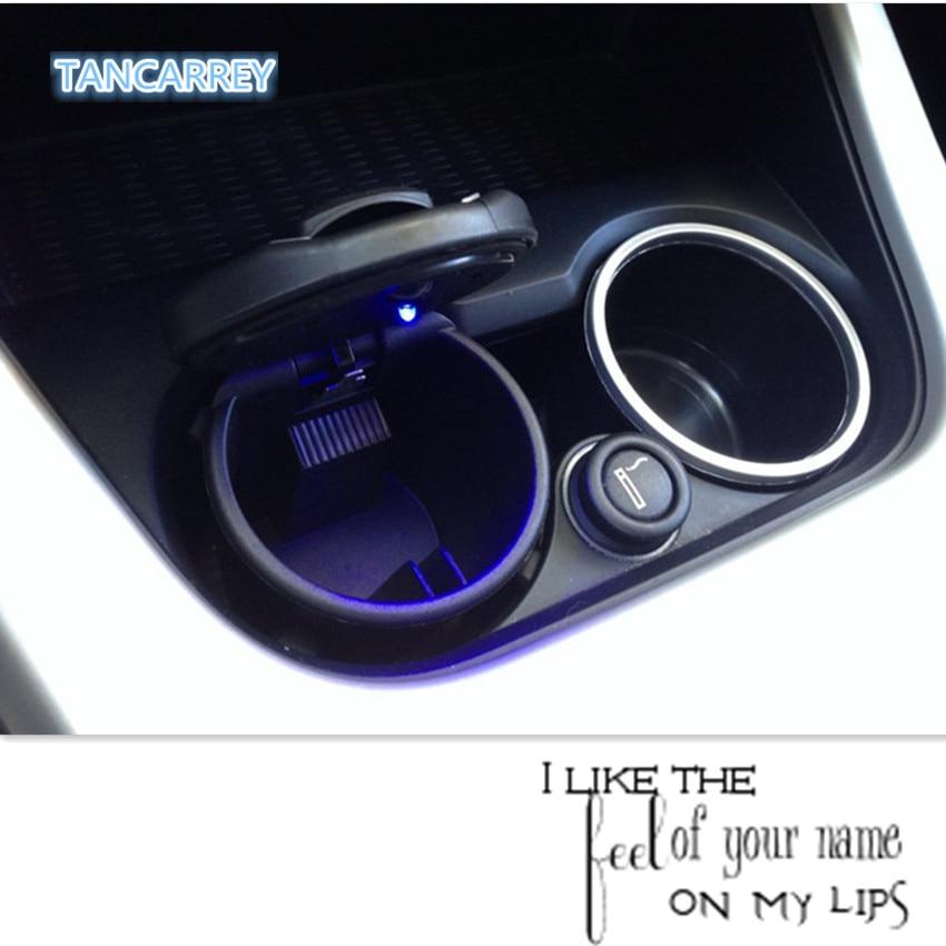 Car styling LED Cendrier Cendrier Tasse De Stockage pour Dacia duster logan sandero stepway lodgy mcv 2 Renault Megane Modus Espace