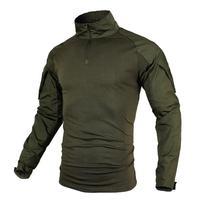 Большие размеры, мужские рубашки-милитари, военная форма, тактические рубашки с длинными рукавами, камуфляжная дышащая рубашка