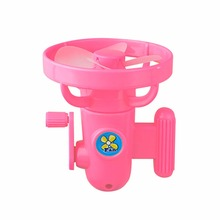 2 PCS/LOT New Portable Hand Operated Toy Fans For Children Novelty Toy Draft Blower In Random Color