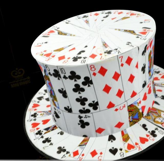 Card Fan to Top Hat - Magic tricks,stage magic,close up,comedy,magic toys,Accessories,illusions