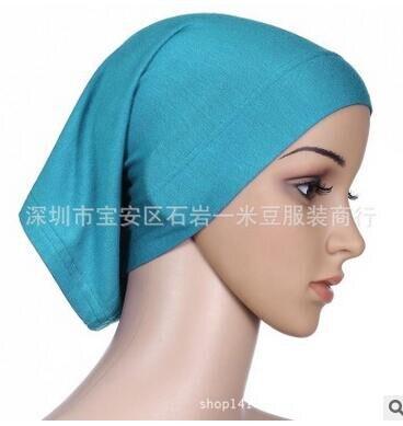 50pcs/lot  free shipping muslim woman casual hijabs modal Islamic inner caps abaya adult soft headscarf free