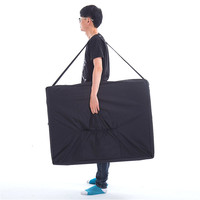 Large Size Folding Massage Bed Backpack Durable 600D Oxford Cloth Massage Bed Carrier 93*70cm Waterproof Carrying Bag Black