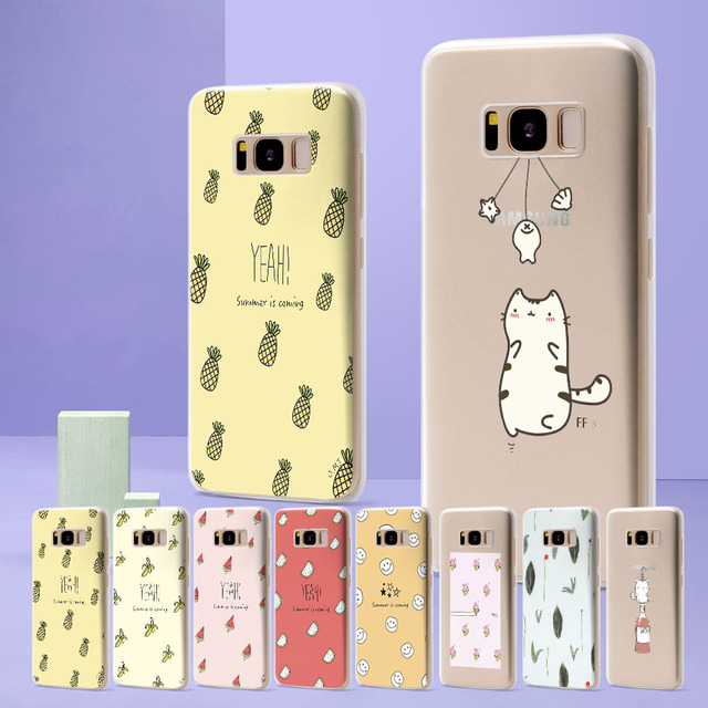 new products 9b9fc 3dab0 US $1.42 42% OFF|Coque New Arrivals Fashion Fruit Texture for Samsung  Galaxy S9 Case Cute Cat Case for Funda Samsung Galaxy S8 S7 edge S8 S9  Plus-in ...