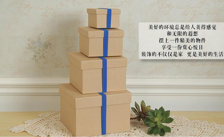 new arrival kraft box 4pcs/set jewelry no logo normal chipboard box gift packaging box домкрат kraft кт 800026