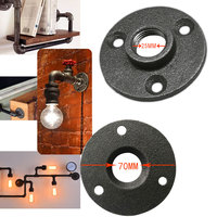 Iron Pipe Fittings Wall Mount Floor Antique DN15 DN20 Flange Piece Hardware Tool cast iron flanges 10Pcs